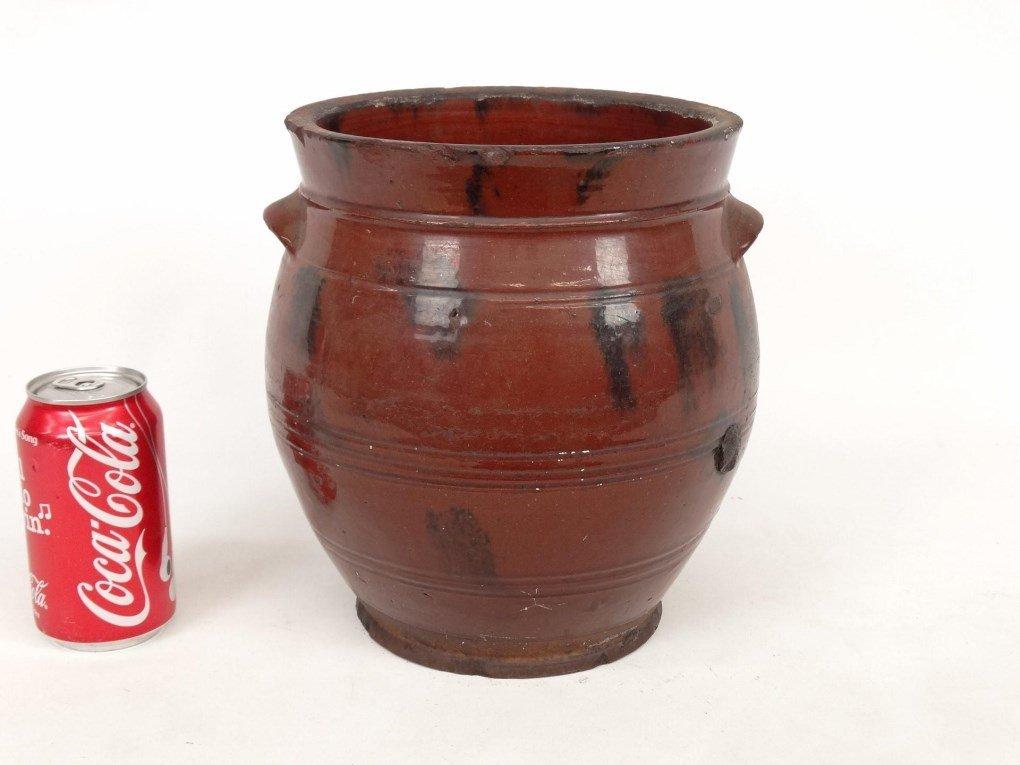 19th c. Redware Crock