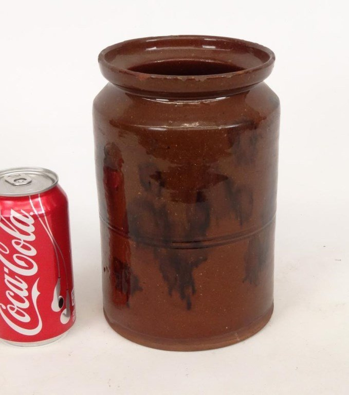 19th c. Redware Jar