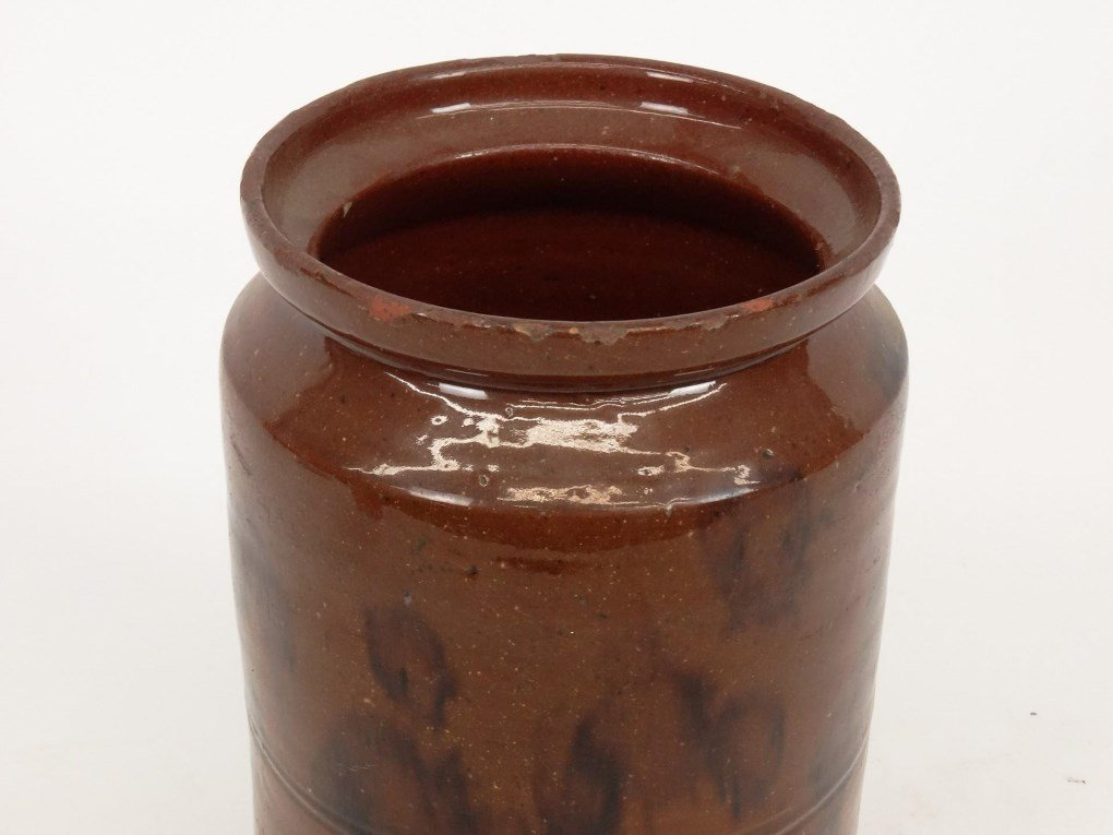 19th c. Redware Jar - 2