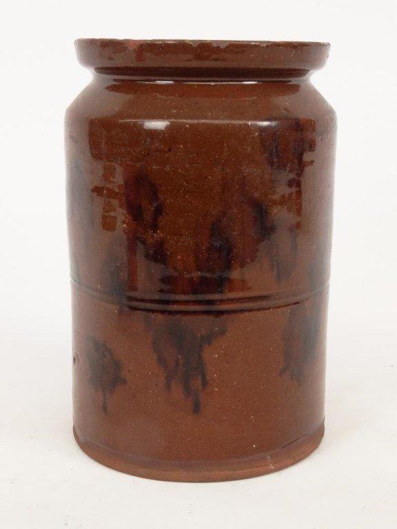 19th c. Redware Jar - 3