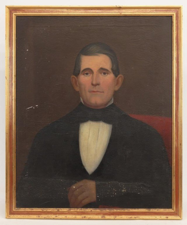 19th c. Portrait Of A Gentleman