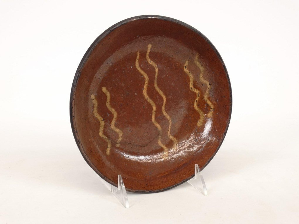 19th c. Redware Dish - 2