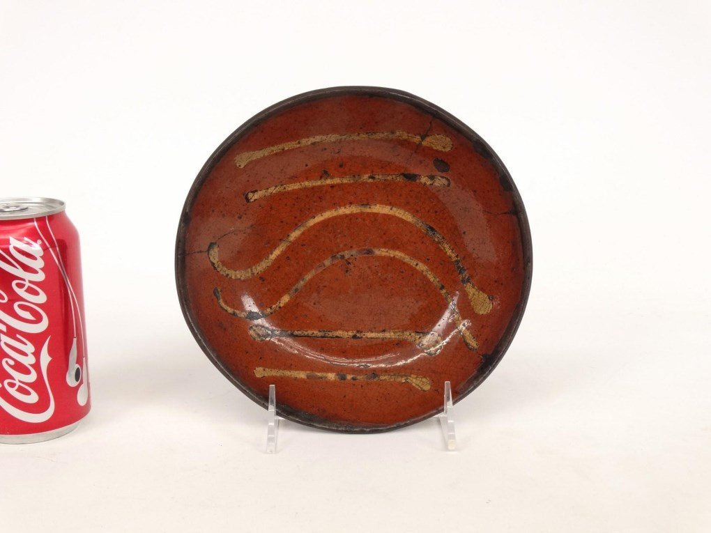 19th c. Redware Dish