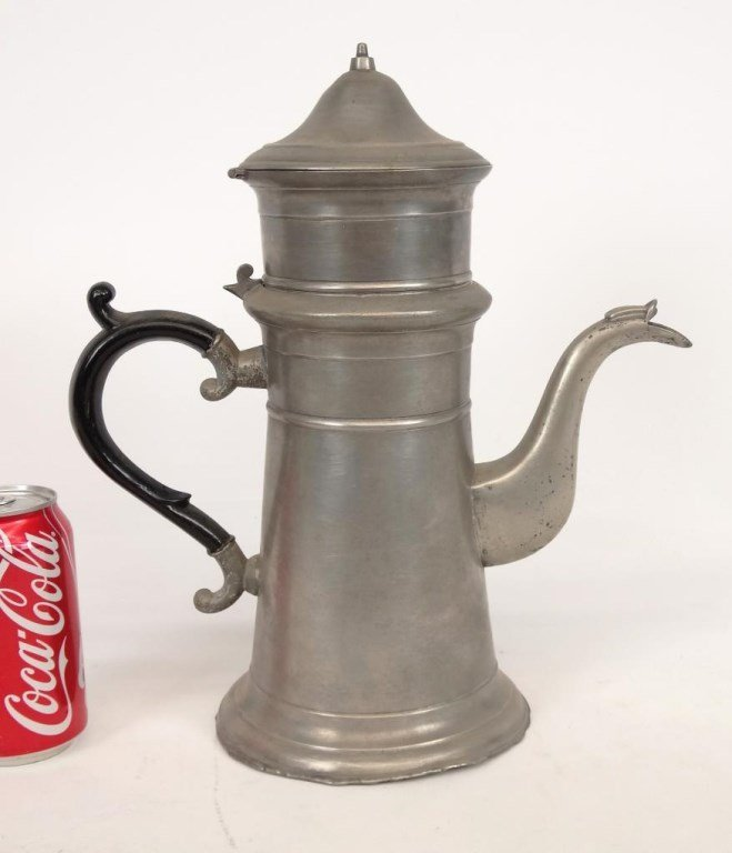 19th c. Pewter Coffee Pot