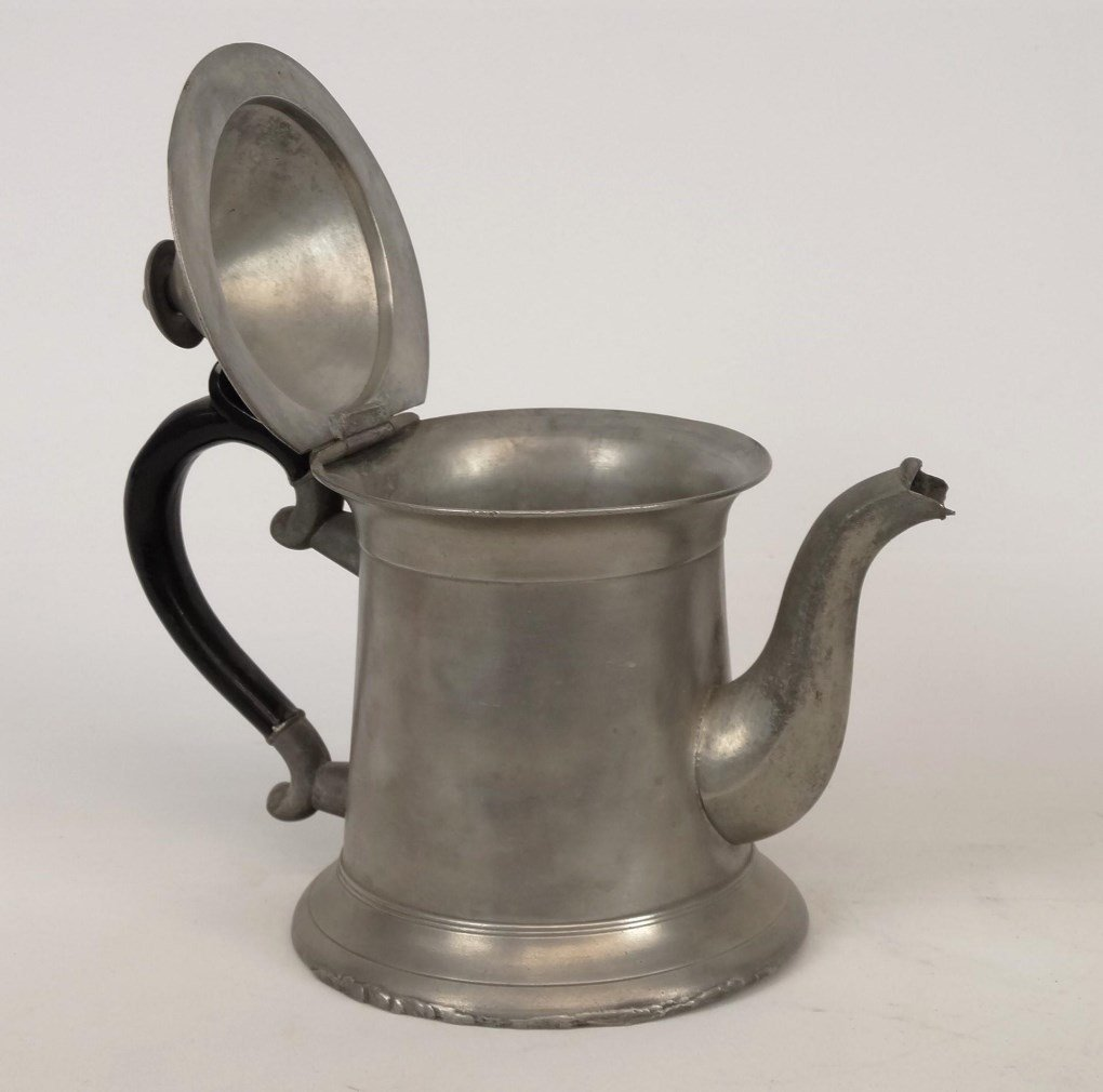 19th c. Pewter Teapots - 2