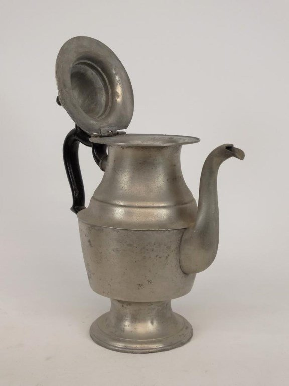 19th c. Pewter Teapots - 5