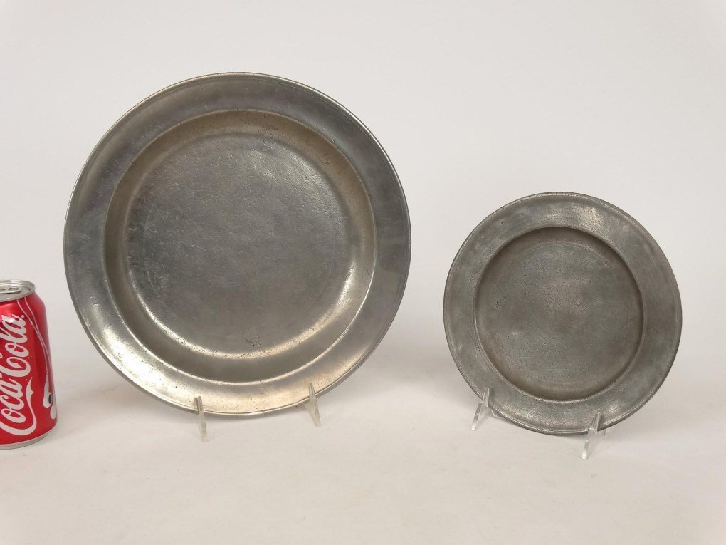 19th c. Pewter Plates