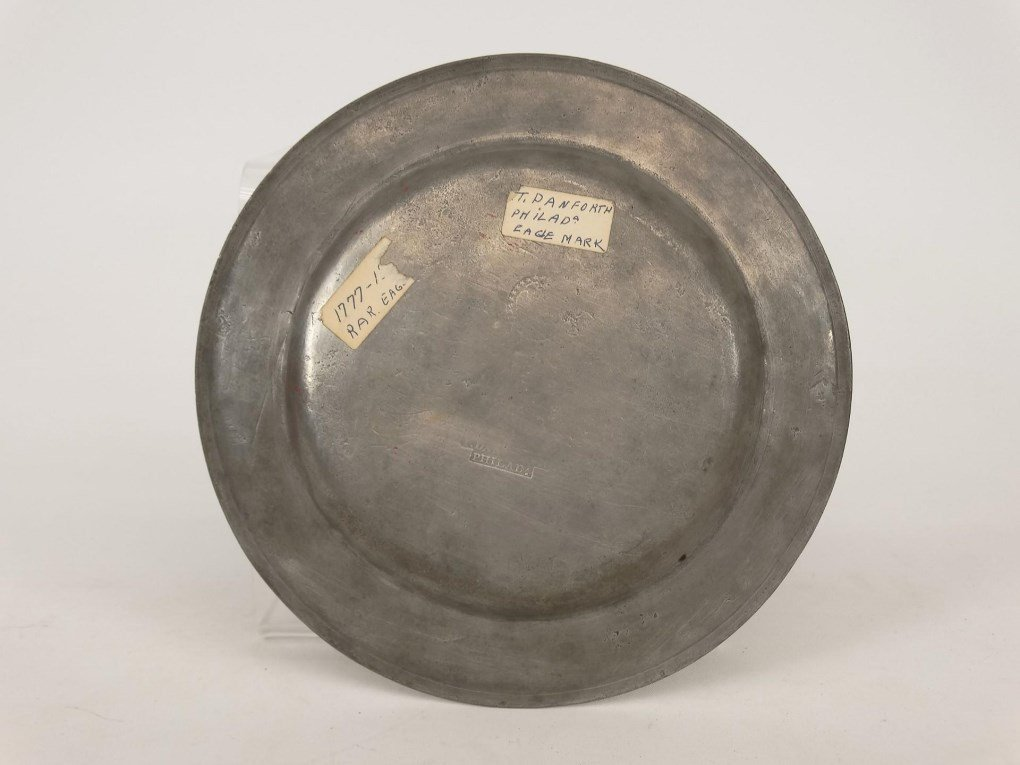 19th c. Pewter Plates - 4