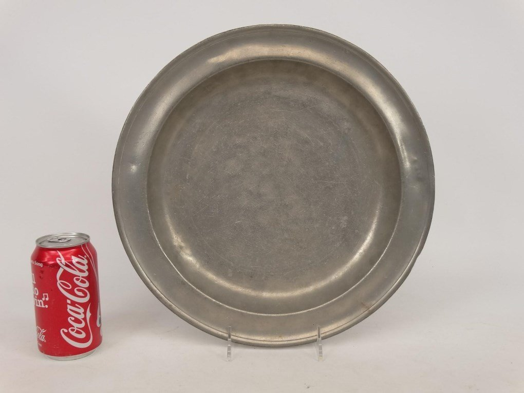 19th c. Pewter Charger