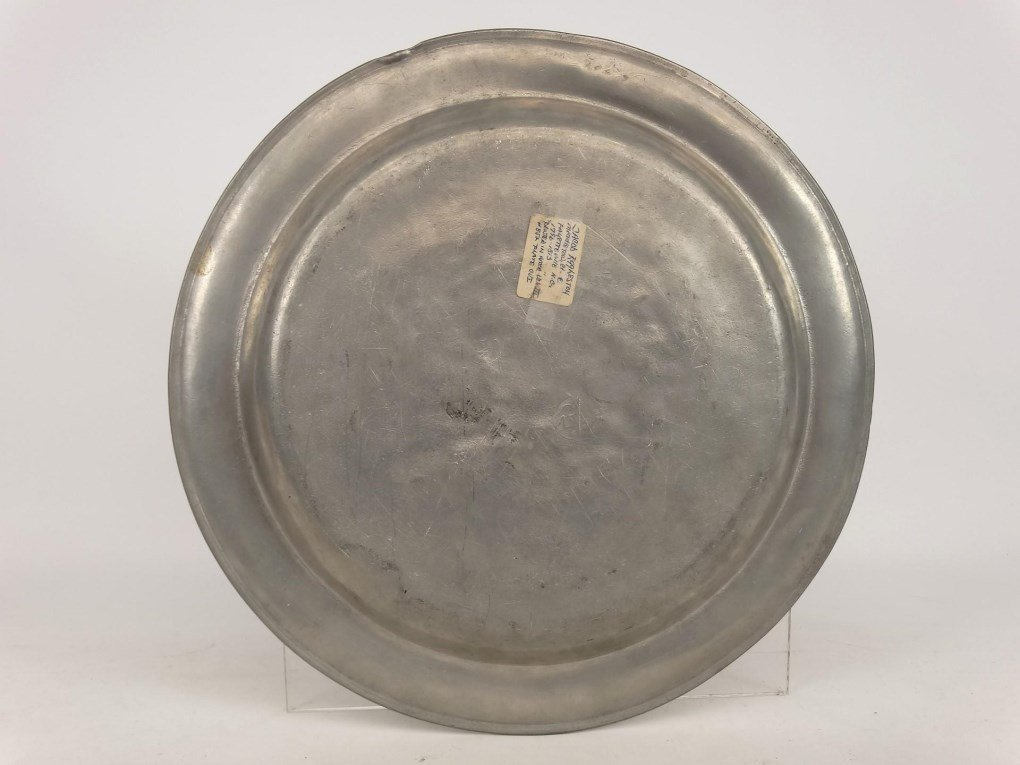 19th c. Pewter Charger - 5