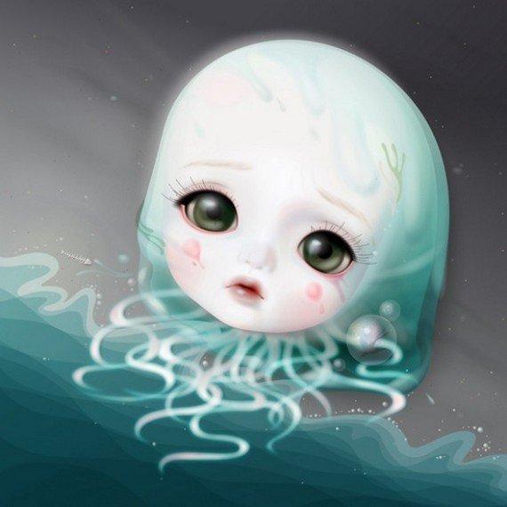 2: MIJN SCHATJE #2  Baby mermaid 2009 Digigraphie / C p