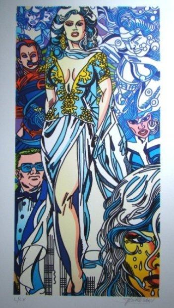 5: ERRO #5 untitled, 2001 92.00 x 50.00 cm coloured lit