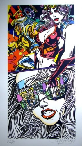 6: ERRO #6 untitled, 2001 92 x 50 cm coloured lithograp