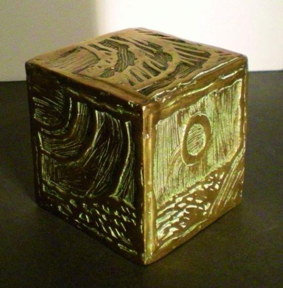 10: ALECHINSKY Pierre  #10 Cryptocube, 1975 Sculpture i