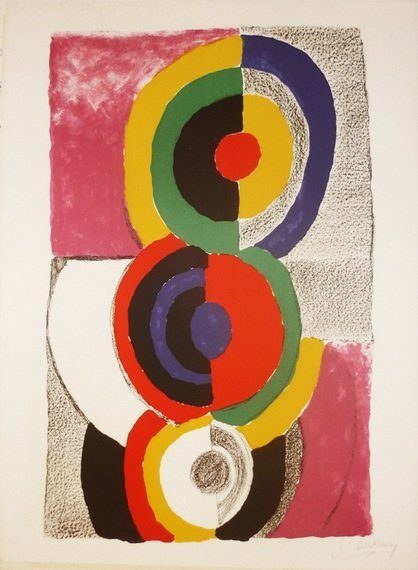 23: DELAUNAY #23 original lithograph in colour signed w