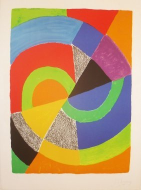 24: DELAUNAY #24 original lithograph in colour signed w