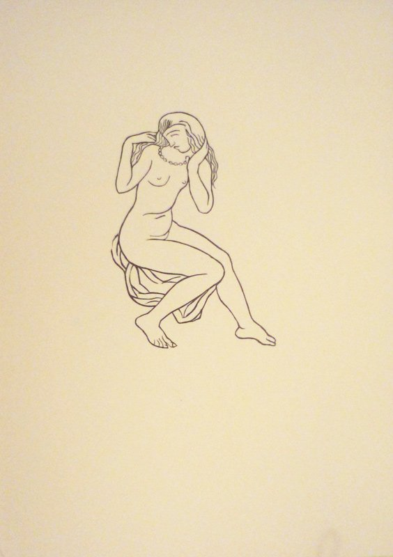 6: MAILLOL Aristide Woodcut in black