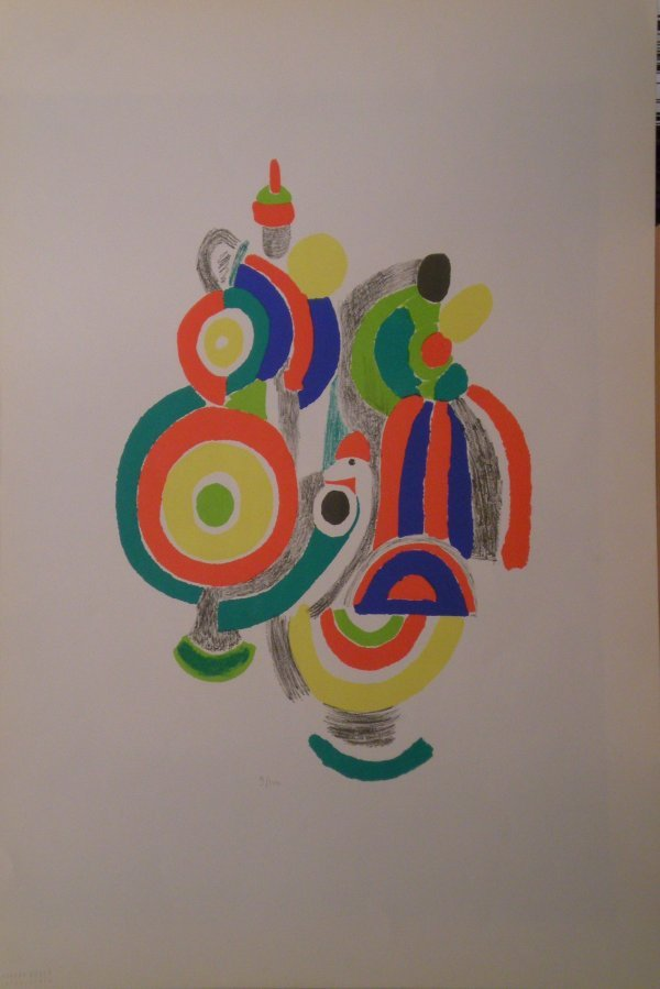 14: DELAUNAY Sonia lithograph in color