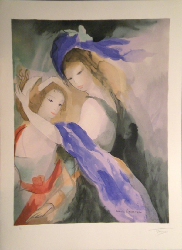 15: LAURENCIN Marie lithograph in colour