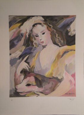 16: LAURENCIN Marie lithograph in colour