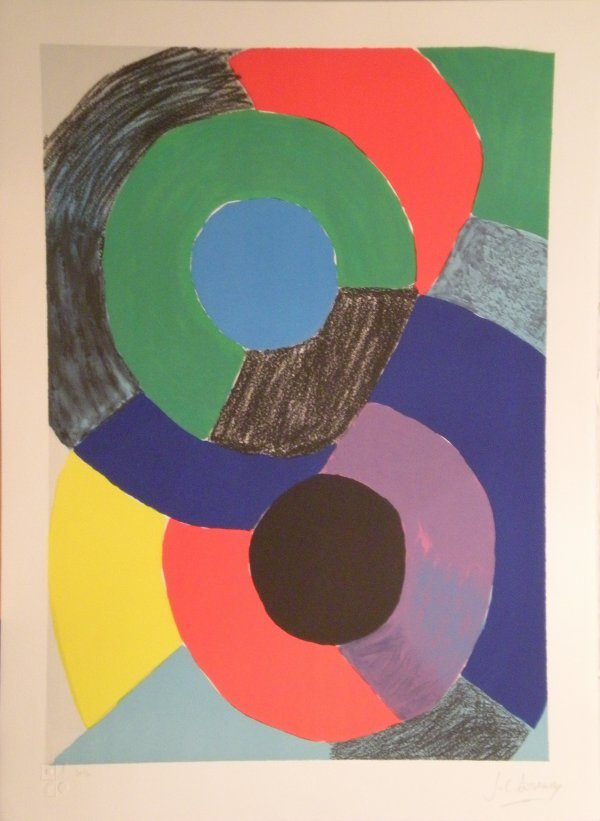 17: DELAUNAY Sonia lithograph in color