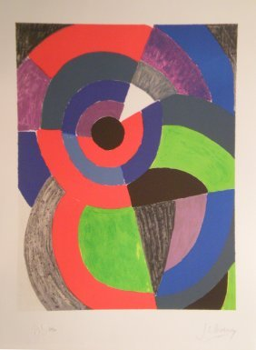 18: DELAUNAY Sonia lithograph in color