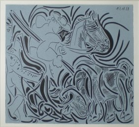 PICASSO Pablo Print In Linocut After The Originals