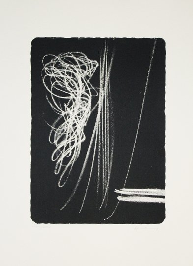 74: HARTUNG HANS 1971 original lithograph in black