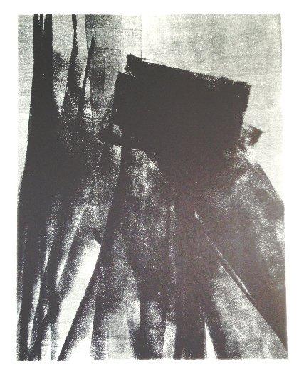 75: HARTUNG HANS original lithograph in black