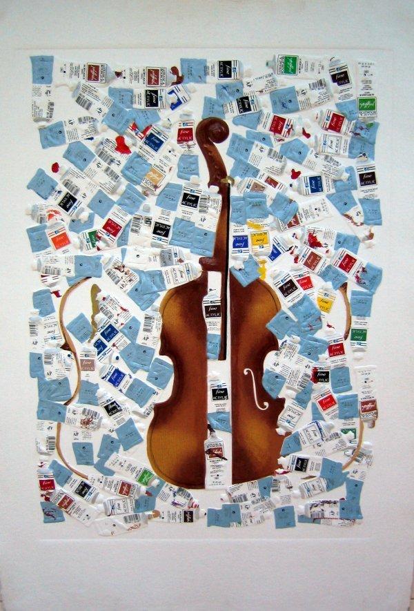 """84: ARMAN """"Tubes et violon"""""""