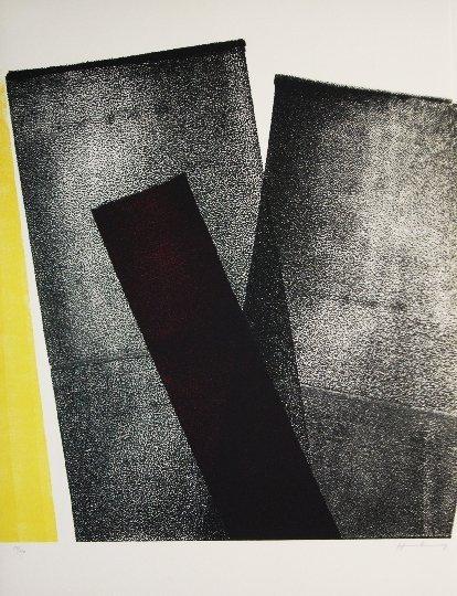 87: HARTUNG HANS  original coloured lithograph on Guarr
