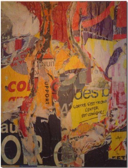 92: VILLEGLE 2009 silkscreen planed down on c