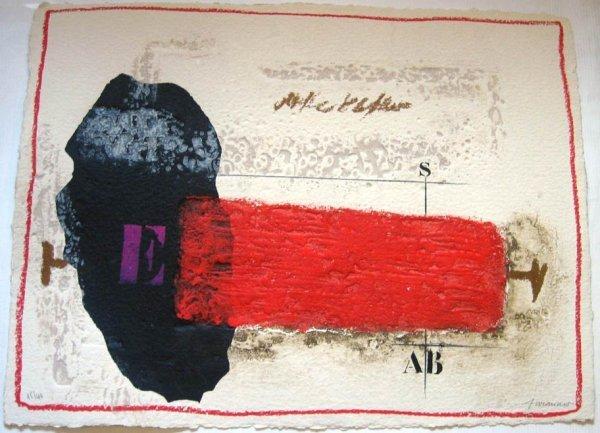 """94: James COIGNARD""""Rouge pénétrant"""", 2007carborundum en"""