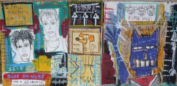 "95: Lorenzo BOLDY (born in1964)"" Blue Danube"", 2000Acry"
