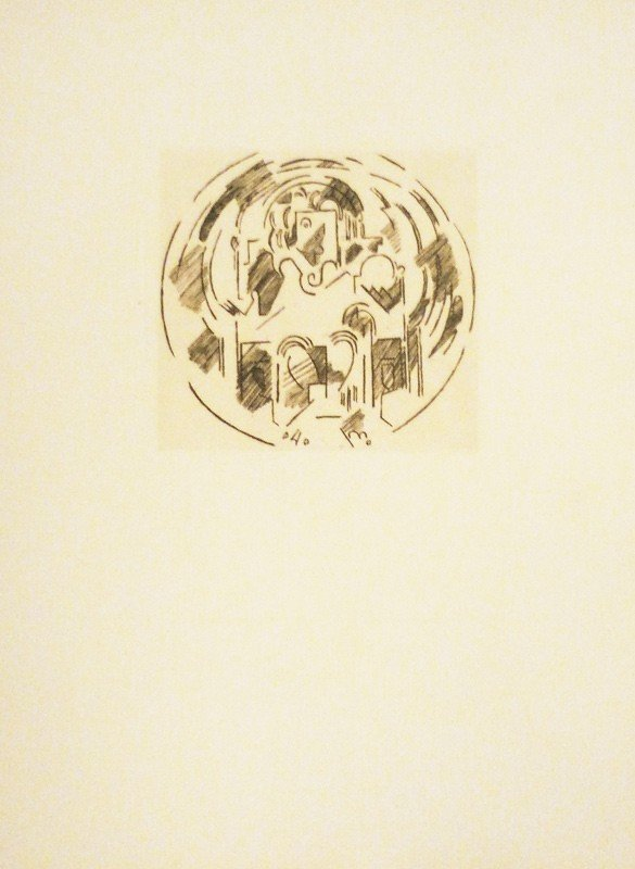 11: etching drawn in sepia