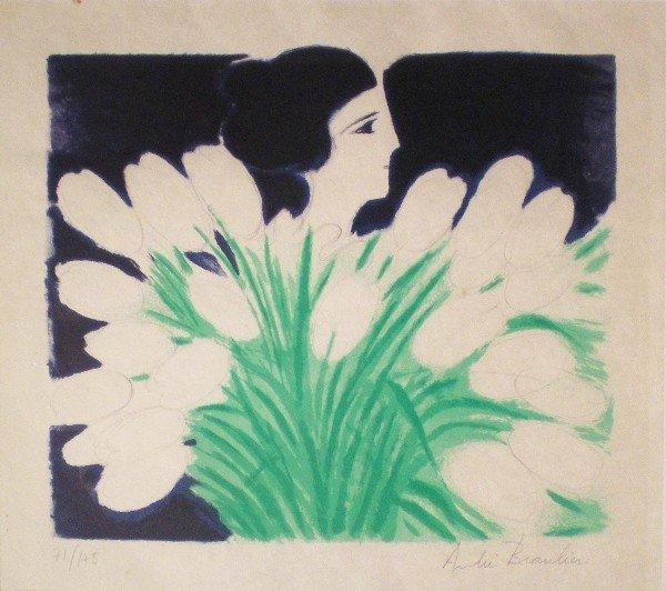 17: Femme au bouquet de fleur