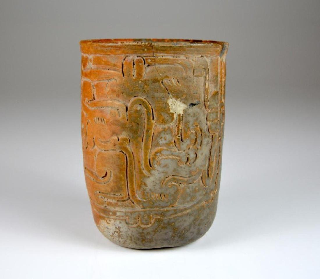 PRE COLUMBIAN TERRACOTTA DRINKING CUP