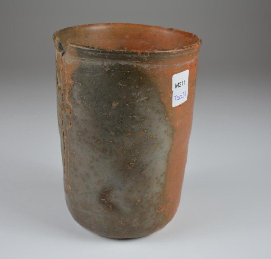 PRE COLUMBIAN TERRACOTTA DRINKING CUP - 2