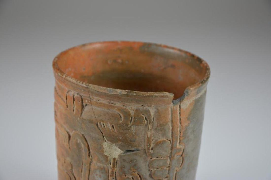 PRE COLUMBIAN TERRACOTTA DRINKING CUP - 4