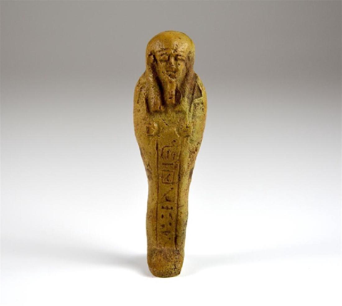 EGYPTIAN USHABTI POTTERY FIGURE