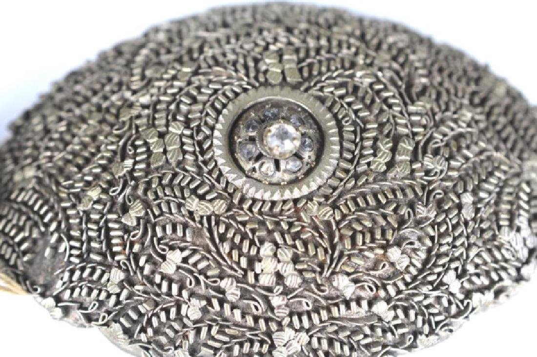 SOUTHEAST ASIAN FILIGREE SILVER BELT - 2