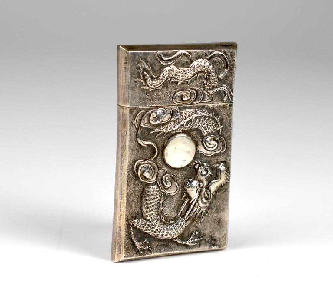 CHINESE WING-ON SILVER MATCH VESTA CASE