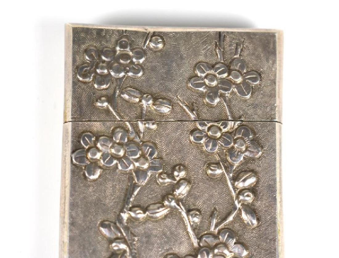 CHINESE WING-ON SILVER MATCH VESTA CASE - 3