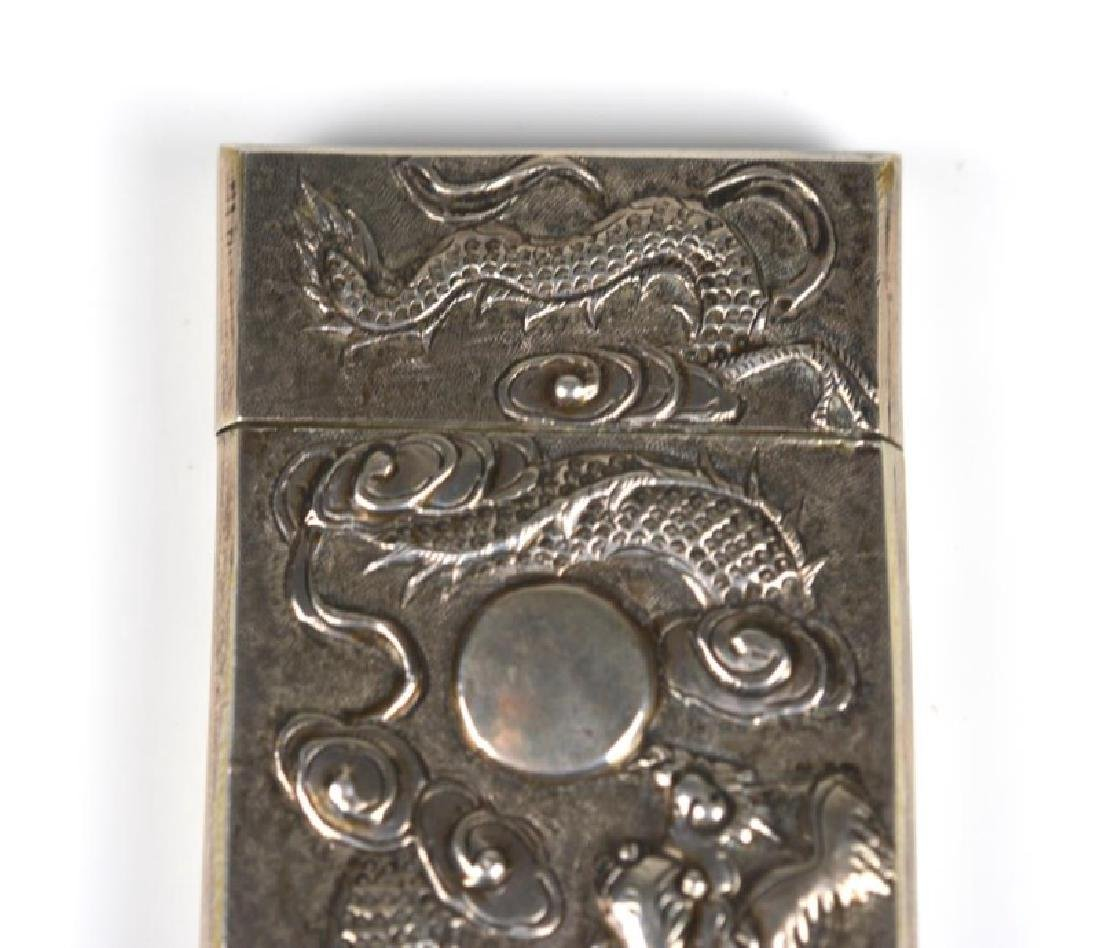 CHINESE WING-ON SILVER MATCH VESTA CASE - 6