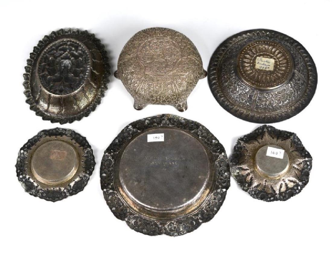 SIX SOUTH EAST ASIAN AND INDIAN SILVER TRAYS - 2