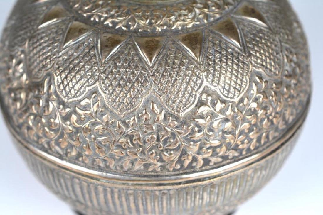SOUTH EAST ASIAN SILVER ROSEWATER BOTTLE - 2