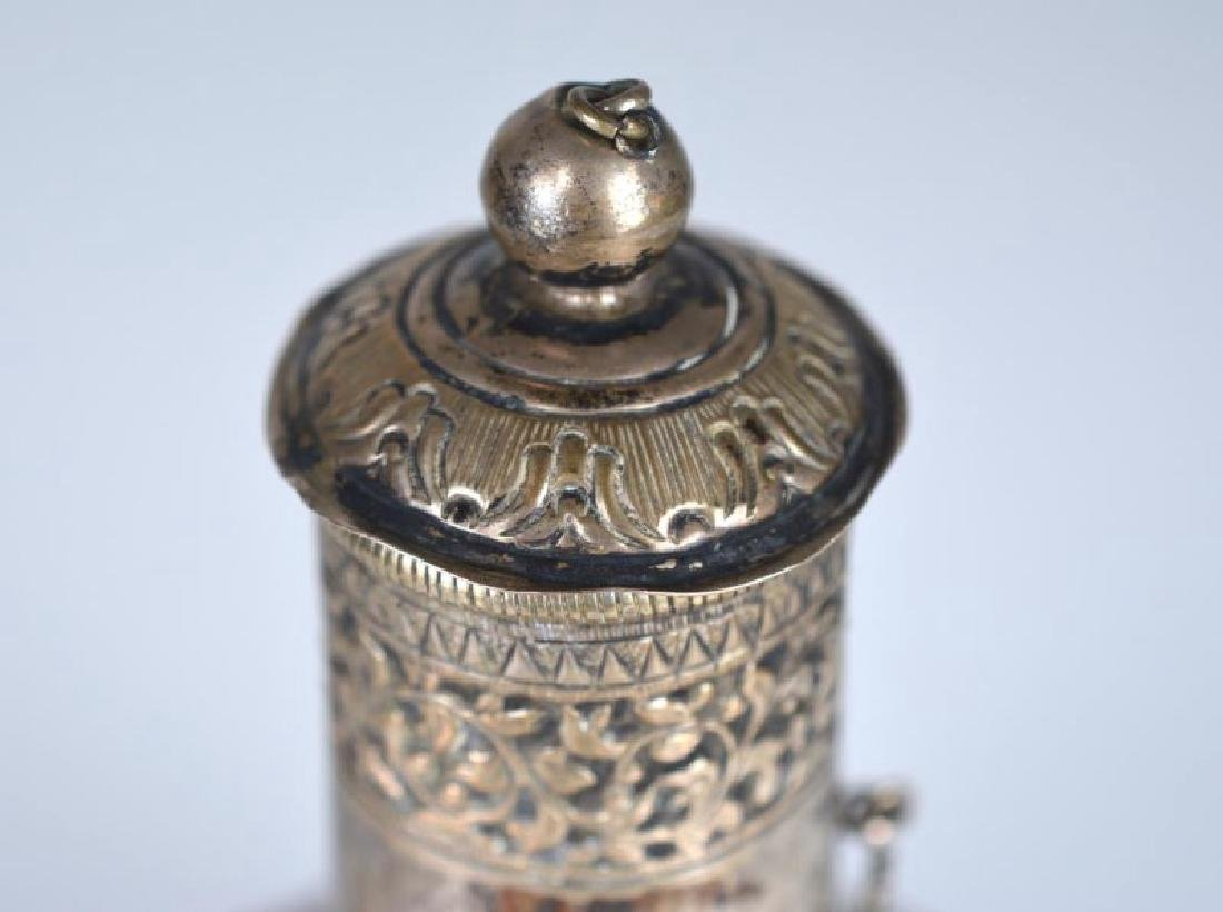 SOUTH EAST ASIAN SILVER ROSEWATER BOTTLE - 3