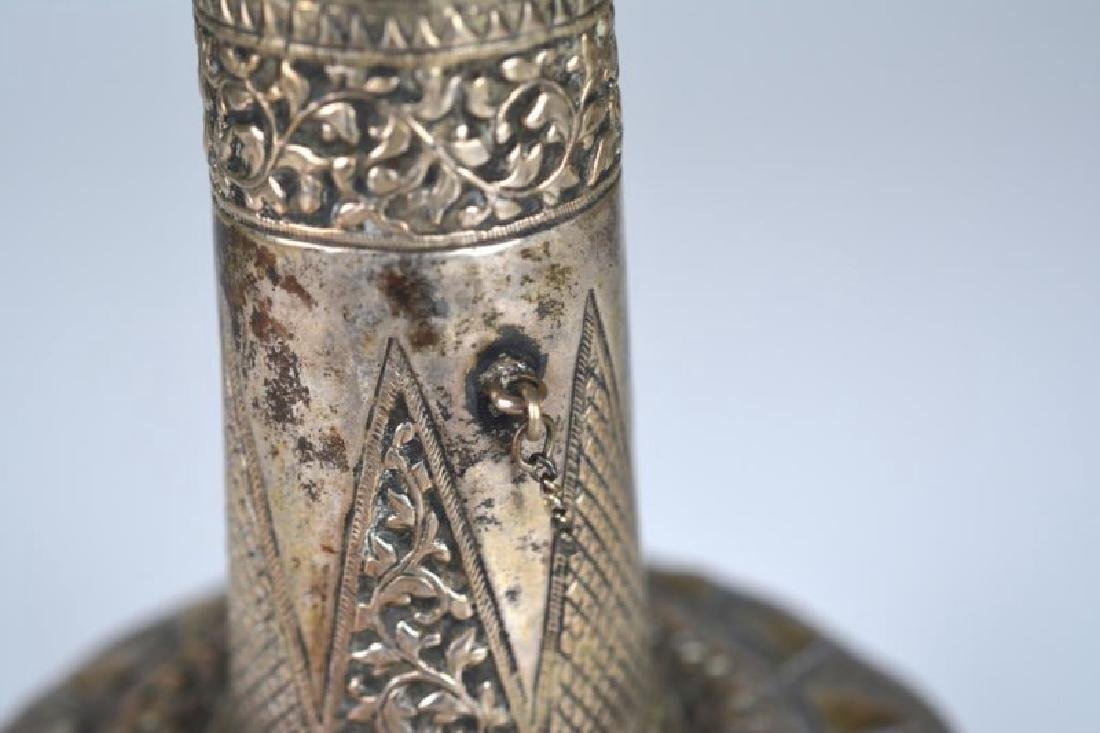SOUTH EAST ASIAN SILVER ROSEWATER BOTTLE - 4
