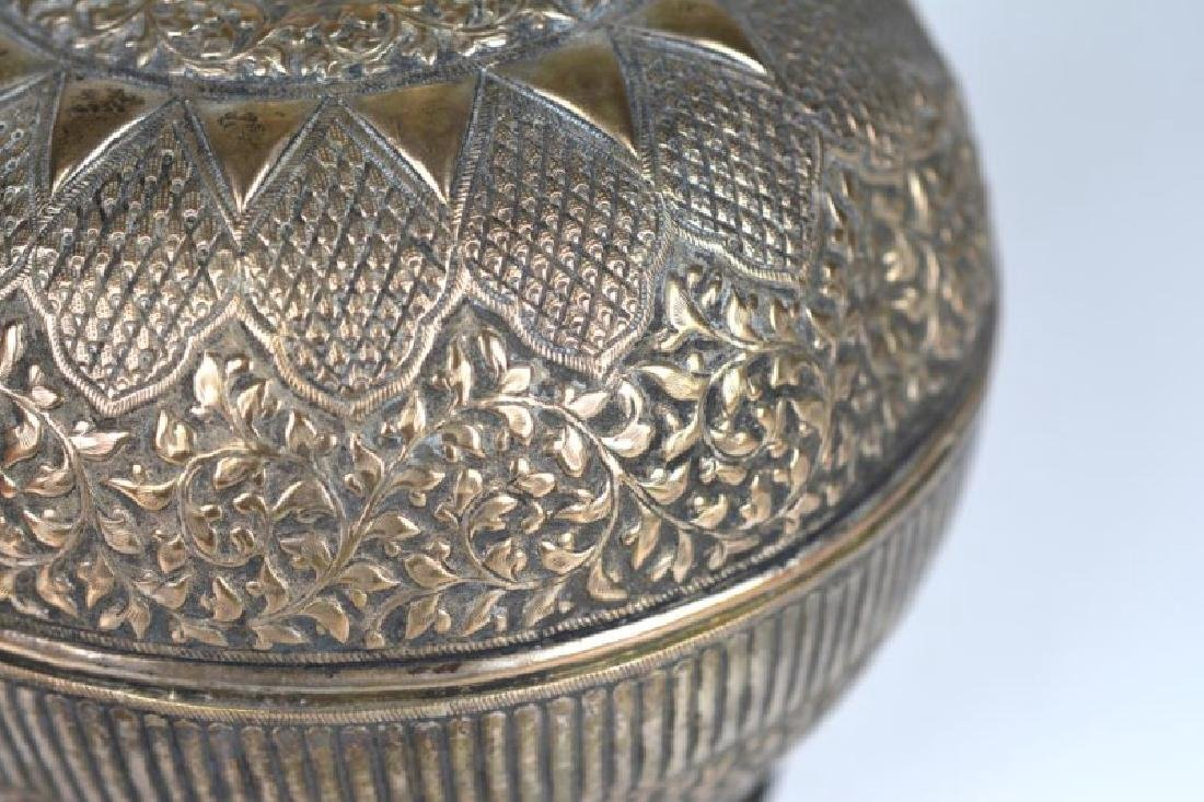SOUTH EAST ASIAN SILVER ROSEWATER BOTTLE - 5