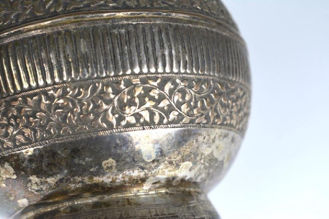 SOUTH EAST ASIAN SILVER ROSEWATER BOTTLE - 6